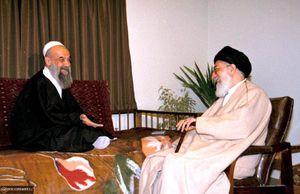 عکس/ مرحوم آیتالله راستی کاشانی در کنار رهبر انقلاب