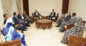 عکس/ دیدار هیات پارلمانی موریتانی با بشار اسد