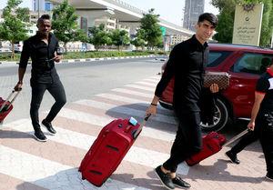 عکس/ ورود کاروان پرسپولیس به امارات برای بازی الهلال
