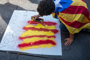هزاران نفر از استقلال طلبان کاتالونیا به خیابان ها ریختند