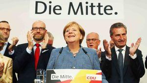 شوک موفقیت «راستهای افراطی» آلمان برای اولین بار در کنار چهارمین پیروزی مرکل + تصاویر و فیلم