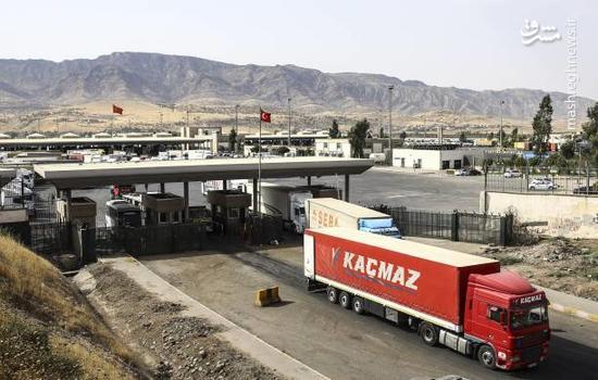 مرز زمینی ترکیه و عراق در روز همه پرسی کردستان عراق