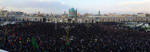 عکس/ سنگ تمام مشهدیها برای شهید حججی
