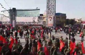 فیلم/ حضور پرشور مردم در تشییع شهید حججی