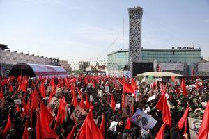 تشییع پیکر شهید حججی در میدان امام حسین 222