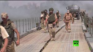 روس ها دومین پل شناور را روی فرات احداث کردند