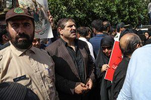 حضور عباس جدیدی در مراسم تشییع شهیدحججی