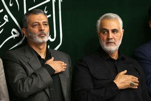 عکس/ حاج قاسم در مراسم امشب حسینیه امام خمینی