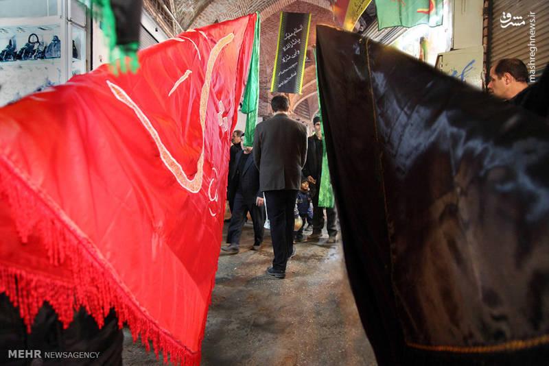 آئین عزاداری ایام محرم در بازار تاریخی اردبیل