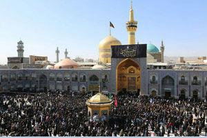 حال و هوای صحن انقلاب اسلامی حرم رضوی در روز تاسوعای حسینی