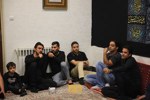 عکس/ رحمتی و مسلمان در هیئت بنیفاطمه