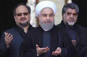 عکس/ روحانی در جمع عزاداران حرم عبدالعظیم