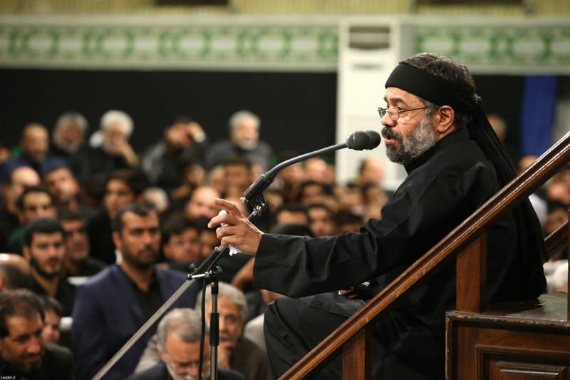 مداحی حاج محمود کریمی شب عاشورا محضر رهبرانقلاب - حسینیه امام خمینی