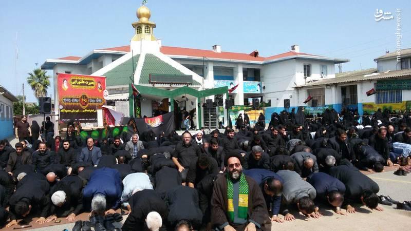 نماز ظهر عاشورا در محمودآباد
