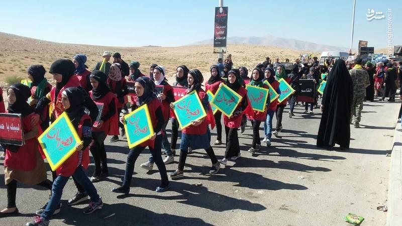 تصاویر عزاداری شهروندان محاصره شده الفوعه و کفریا در عاشورای حسینی