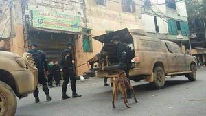 کماندوهای سیاهپوش حزب الله در خیابانهای بیروت+عکس