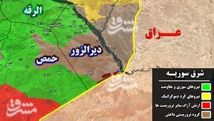 جنوب شرق استان حمص یک روز پس از حملات سنگین داعش/ آزادی الطیبه و نیمی از شهر القریتین/ شهادت ۸ رزمنده حزب الله در حمله پهپادی آمریکا +نقشه میدانی