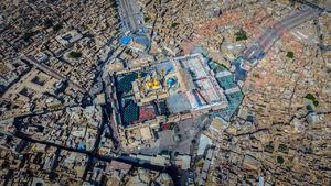 تصویر هوایی زیبا از کاظمین