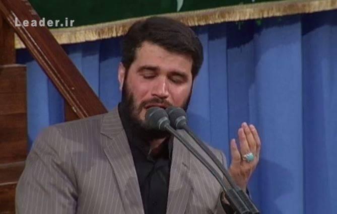 فیلم/ روضه خوانی مطیعی در محضر رهبرانقلاب