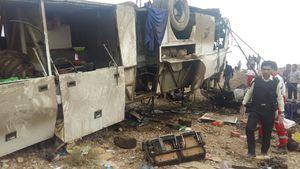 عکس/ 8کشته براثر واژگونی اتوبوس در سمنان