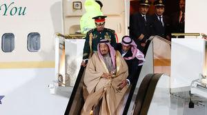 عکس/ پادشاه عربستان وارد روسیه شد