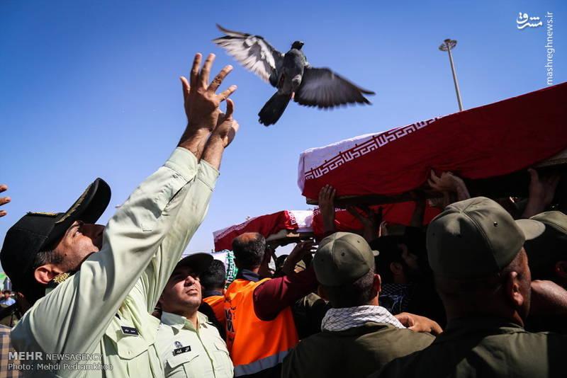 ورود پیکر ۱۱۹ شهید دوران دفاع مقدس از مرز شلمچه