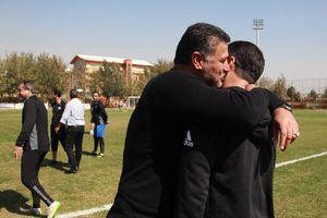 عکس/ آشتی دایی و یک مربی لیگ برتری بعد از 14 روز