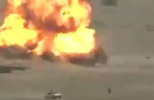فیلم/ لحظه انهدام خودروی انتحاری داعش در عراق
