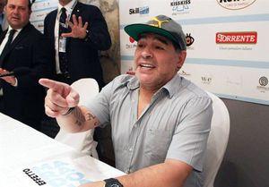 صحبت هیجانی مارادونا با شاگردانش در رختکن +فیلم