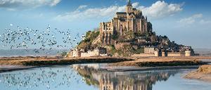 عکس/ جزیره مونت سنت میشل فرانسه