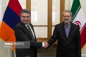 دیدار نخست وزیر ارمنستان با لاریجانی