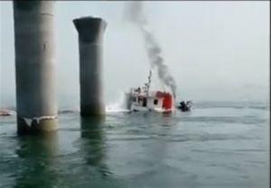غرق کشتی باربری ایرانی در کویت +فیلم