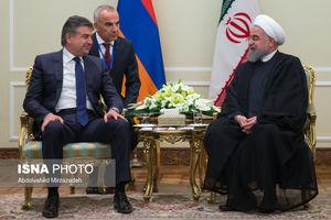 دیدار رییس جمهور با نخست وزیر ارمنستان