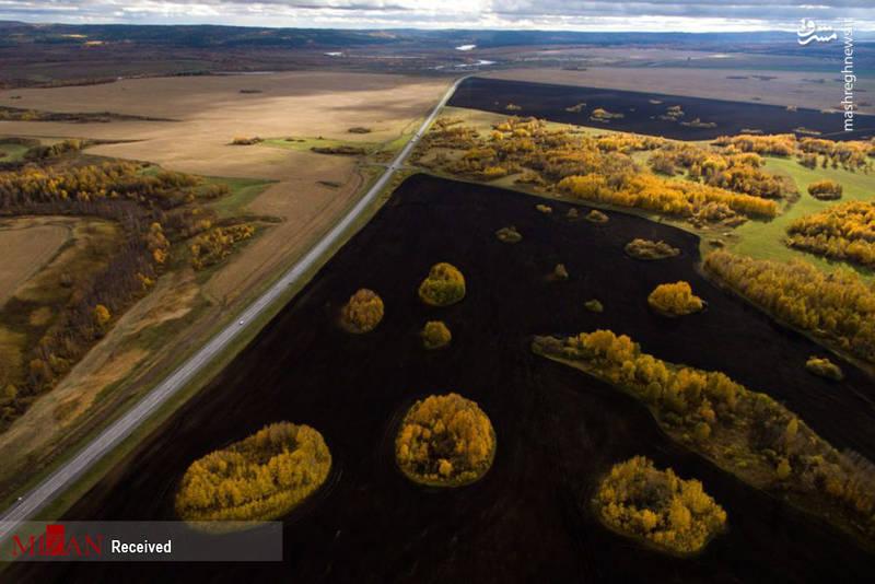 مناظر زیبای سیبری در پاییز