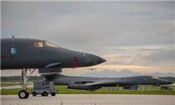 پرواز بمبافکنهای آمریکا در آسمان کره جنوبی
