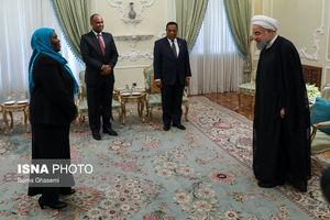 دیدار وزیر خارجه تانزانیا با روحانی