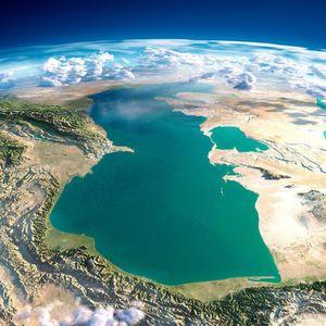 عکس ماهواره ای زیبا از دریای خزر