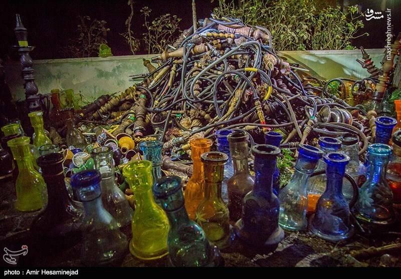 عکس/ جمع آوری قلیان از قهوه خانه های قم