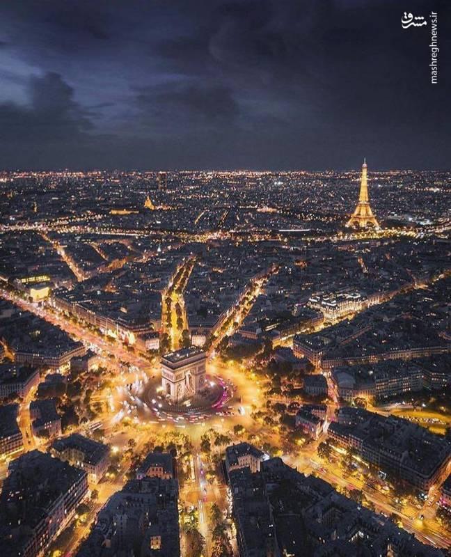 نمایی زیبا از شهر پاریس