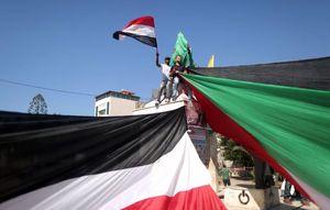 عکس/ شادی مردم غزه پس از توافق آشتی ملی