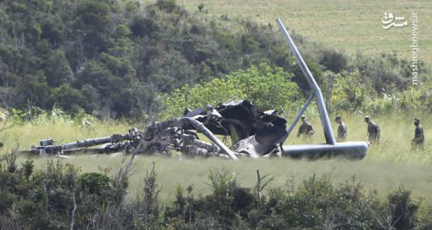 سقوط بالگرد آمریکایی در ژاپن