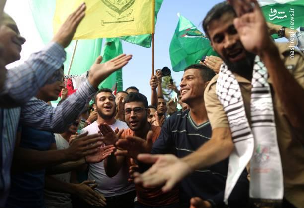 شادی مردم غزه پس از توافق آشتی ملی