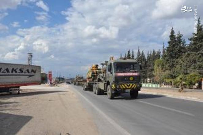 استقرار بخش عظیمی از سامانه های پدافندی ترکیه در  نزدیکی شهر ادلب