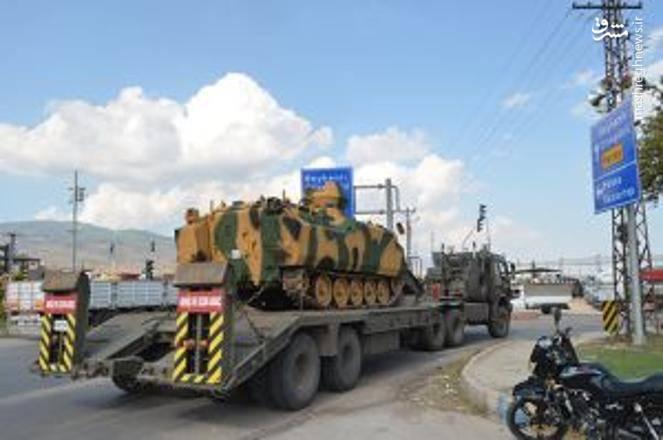انتقال سامانه های پدافندی ترکیه به مرز سوریه