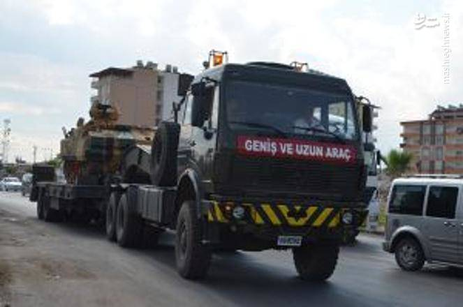 زره پوش ها و سامانه های پدافندی ترکیه در راه مرز سوریه