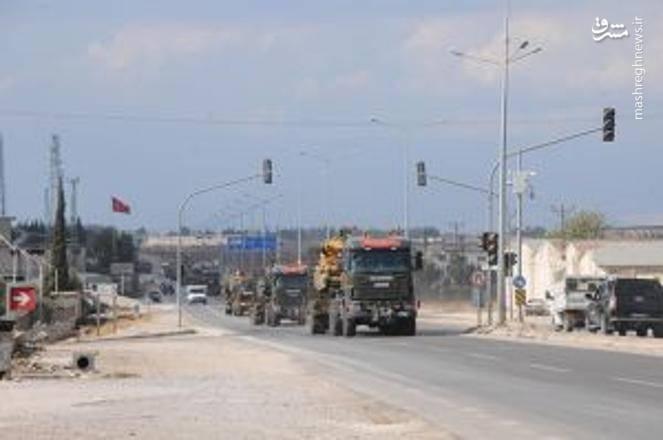 حرکت زره پوش ها و سامانه های پدافندی ترکیه در مرز سوریه