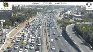 عکس/ آخرین وضعیت ترافیکی جادههای کشور