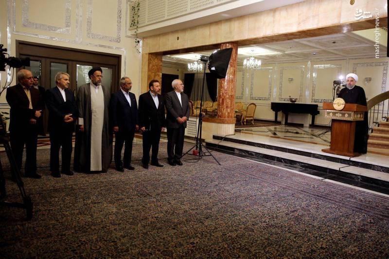 پشت صحنه سخنرانی رییس جمهور