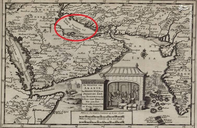 نقشهٔ هلندی که شامل نام خلیج فارس است
