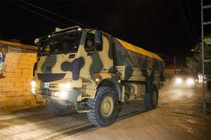 ورود زره پو ها و نیروهای نظامی ترکیه به شهر ادلب